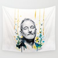 murray Wall Tapestries featuring Bill Murray by Denise Esposito