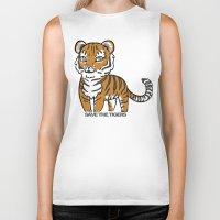 tigers Biker Tanks featuring TIGERs by hoshi-kou