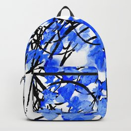 Falling Leaves Blue Backpack