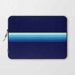 Nagayasu - Classic Maritime Blue Minimal Retro Stripes Laptop Sleeve
