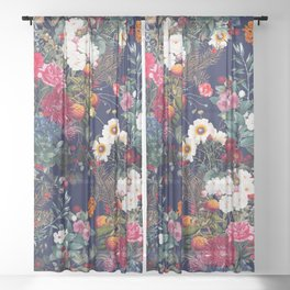 Midnight Garden VI Sheer Curtain