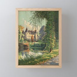 French Chateau Framed Mini Art Print