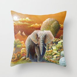 Gold River Kingdom Throw Pillow