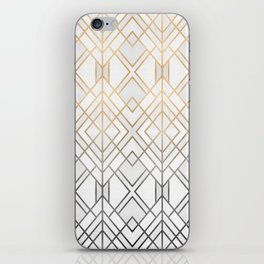 Gold And Grey Geo iPhone Skin