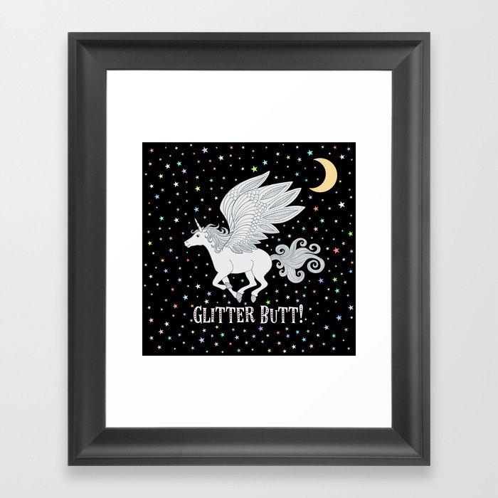 Glitter Butt! Gerahmter Kunstdruck
