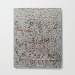 Egyptian Tablet Metal Print