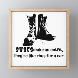Shoes make an outfit Framed Mini Art Print
