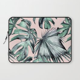 Island Love Coral Pink + Green Laptop Sleeve