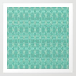 hopscotch-hex sea Art Print