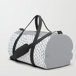 Half Knit Grey Duffle Bag