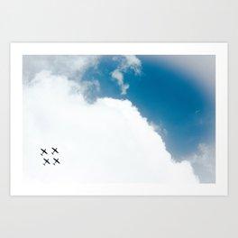Aerial Show Art Print