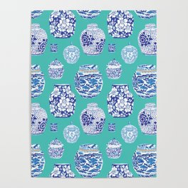 Chinoiserie Ginger Jar Collection No.5 Poster