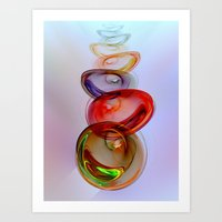 glass Art Prints featuring Glass Effect by Klara Acel