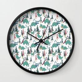 Dinosaur Hygge Wall Clock