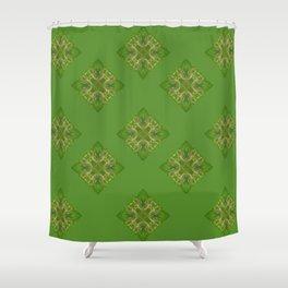 Skinner Butte Stump Digital Explosion Shower Curtain