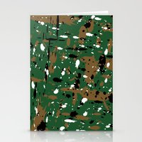 camo Stationery Cards featuring camo by Panic Junkie