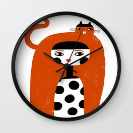 ORANGE LONG HAIR Wall Clock