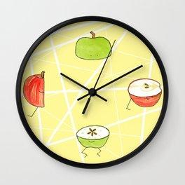 Apple Halves Wall Clock