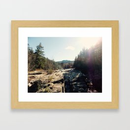 North Conway Sun Framed Art Print