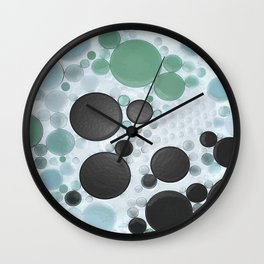 :: Overcast Day at the Beach :: Wall Clock