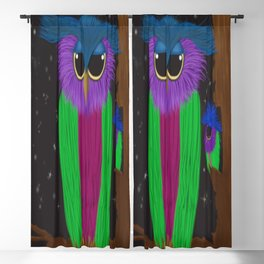 The Prismatic Crested Owl Blackout Curtain