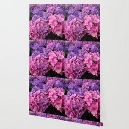 The Garden with Hydrangeas Wallpaper