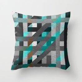 Line Tiles Textured Throw Pillow