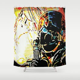 Fighter Pilot's View of the Combat Ground Shower Curtain