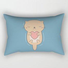 Kawaii Cute Otter Rectangular Pillow