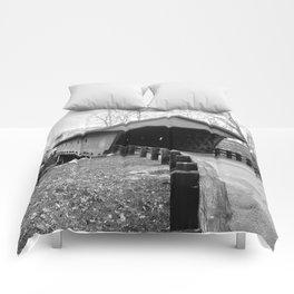 Newfield Covered Bridge 1853 Comforters