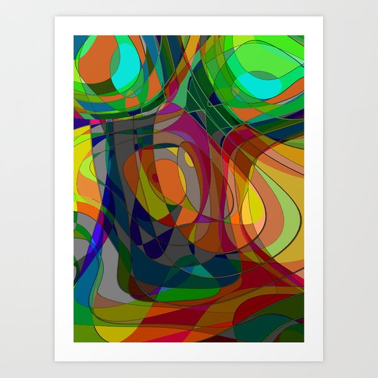 Abstract Nude Art Print