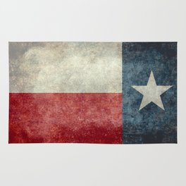 Texas state flag, Vintage banner version Rug