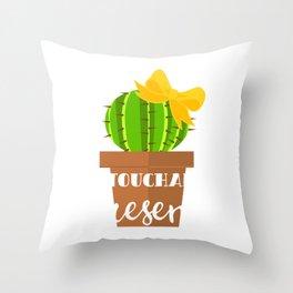 Untouchable Present Merry Christmas December 25 T-Shirt Design Thorn Spiny Prick Plant Gardening Throw Pillow