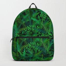 Fern Forest in Emerald Green Backpack