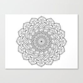 Mandala beach and white Canvas Print