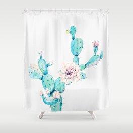 Desert Cactus Rose Shower Curtain