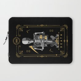 Death XIII Tarot Card Laptop Sleeve