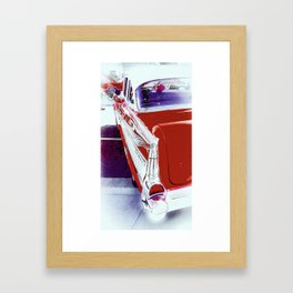 Chevrolet Red Bel Air Framed Art Print