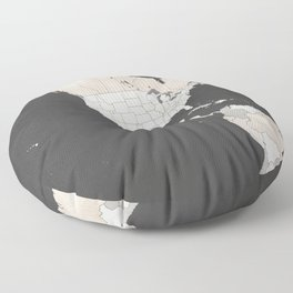 Chalkboard map of North America Floor Pillow
