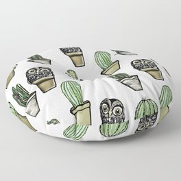 Cactus and Owl Floor Pillow