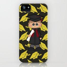Cute Little Graduation Boy iPhone Case