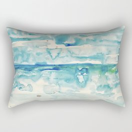 Miami Beach Watercolor #6 Rectangular Pillow