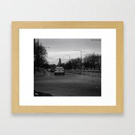 Streets in Noir Framed Art Print