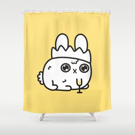 New Year bunny Shower Curtain