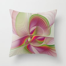 Another Colorful Beauty Abstract Fractal Art Throw Pillow