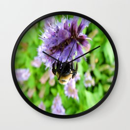 The Bee of Blue Fortune Wall Clock