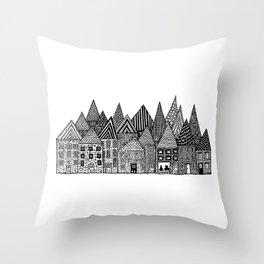 Medieval Village I Throw Pillow