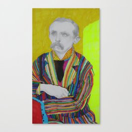 portrait of J. M. Barrie Canvas Print