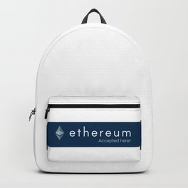 Accepted here: Ethereum Backpack