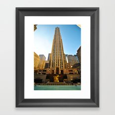 The Building. Rockfeller Center, New York. Framed Art Print